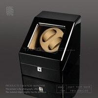 TANG Wood Watch Winder Fashion Black Piano Finish Automantic Self Watch Winders Watch Storage Box Watch Display Cases B0100 0148