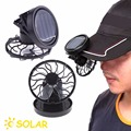 1 pcs Black Solar Power Fan Clip-on Stand Sun Cooler Fishing Travelling Activities Fishing Travelling Activities accessories