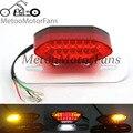 La parada del freno led luz trasera lámpara de cola de la señal de vuelta blinkers integrado guardabarros de montaje de la vendimia w/soporte de matrícula para harley moto