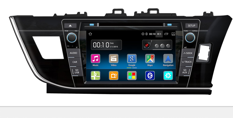 Android 5.1 Quad Core 9 Inch Car DVD Player for Toyota Corolla 2014 2015 Bluetooth GPS Navi Stereo Radio 3g/WIFI free map