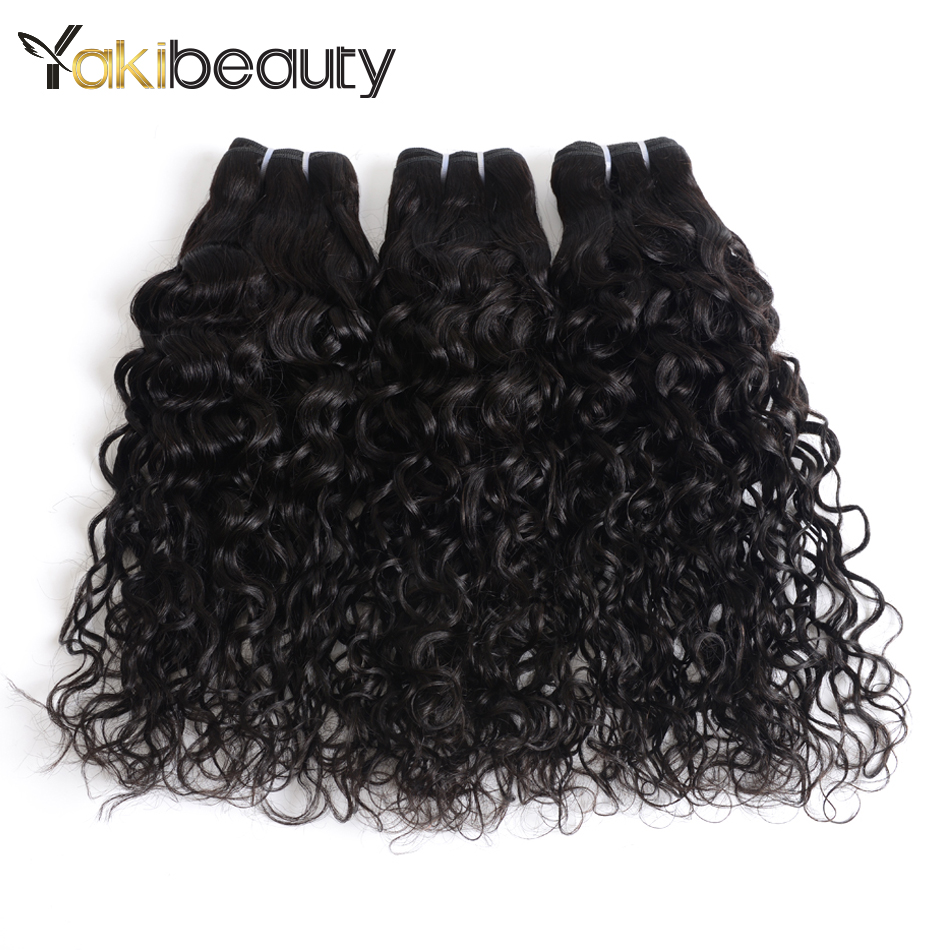 Malaysian Water Wave Bundles 3Pcs/lot Remy Human Hair Bundles Deal Natural Color 8-28inch Curly Weave Human Hair Double Weft