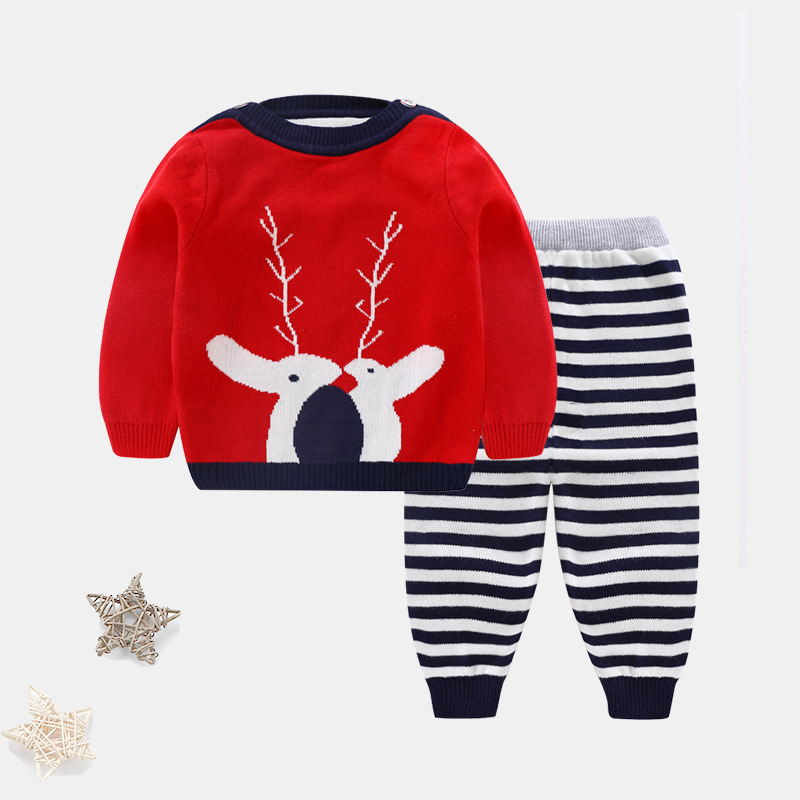 Z057 Baby clothing Newborn baby christmas clothes set Baby boy outfit Girl New year clothing Christmas sweater baby sweater set christmas new year new 2015 summer clothing newborn baby boy romper baby girl bodysuit kids wear infantil boy shorts