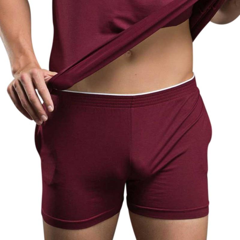 Sexy Male Men's Underwear Boxers Shorts Underpants Home Sleepwear Modal