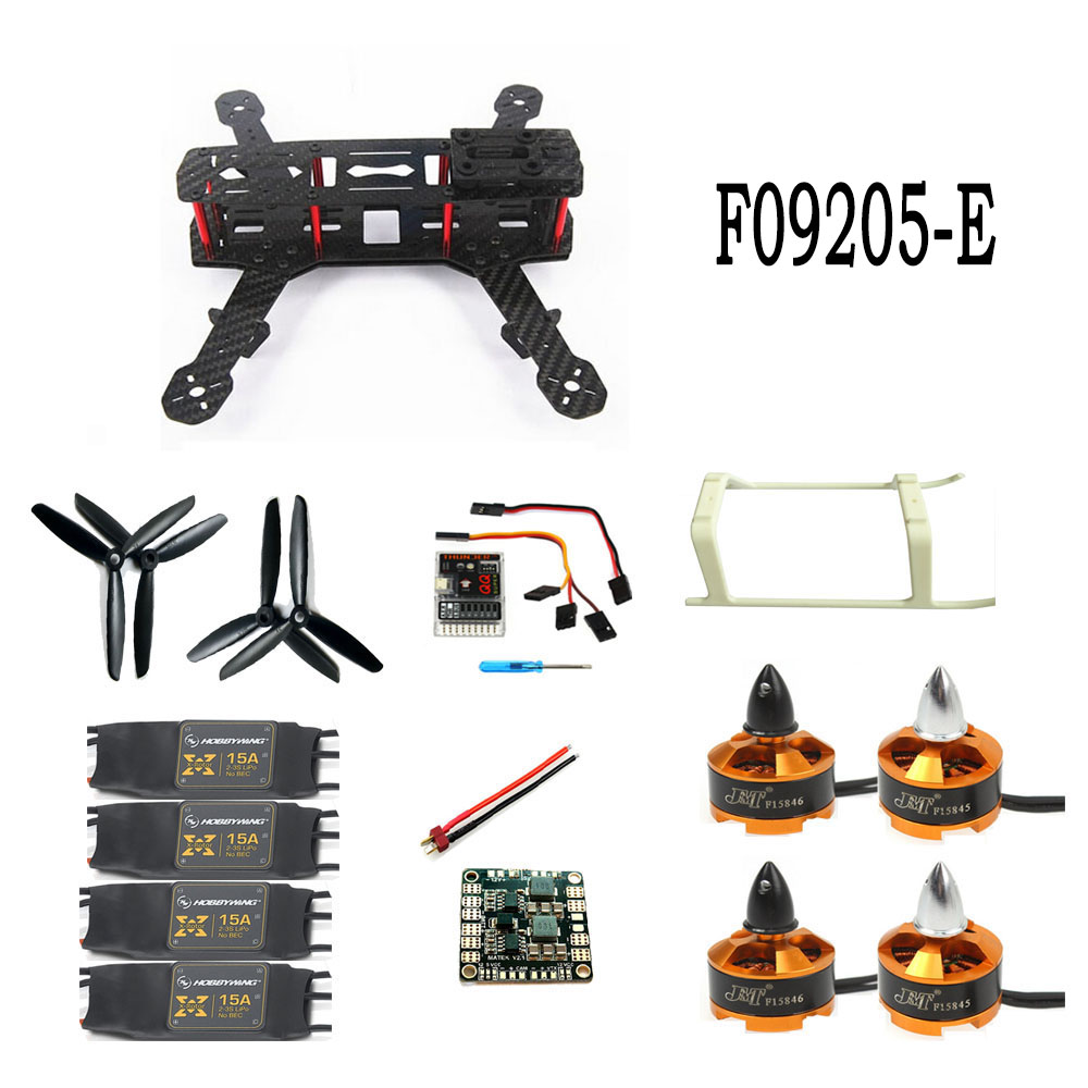 Unassembled Kit Mini 250 Carbon Fiber 4-Axle Aircraft Frame with Motor ESC QQ Flight Control Board F09205-E drone with camera rc plane qav 250 carbon frame f3 flight controller emax rs2205 2300kv motor fiber mini quadcopter