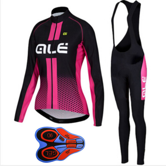 2018 ale cycling clothing women pro cycling jersey set quick-dry long sleeve mountain bike clothes breathable bicycle wear G109