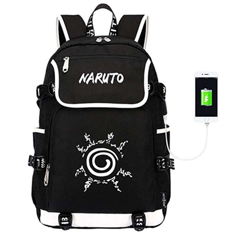 Anime Naruto USB Boys School Bag My Hero Academia Cosplay Backpack For Boy Large Capacity Students Laptop Backpacks Mochila