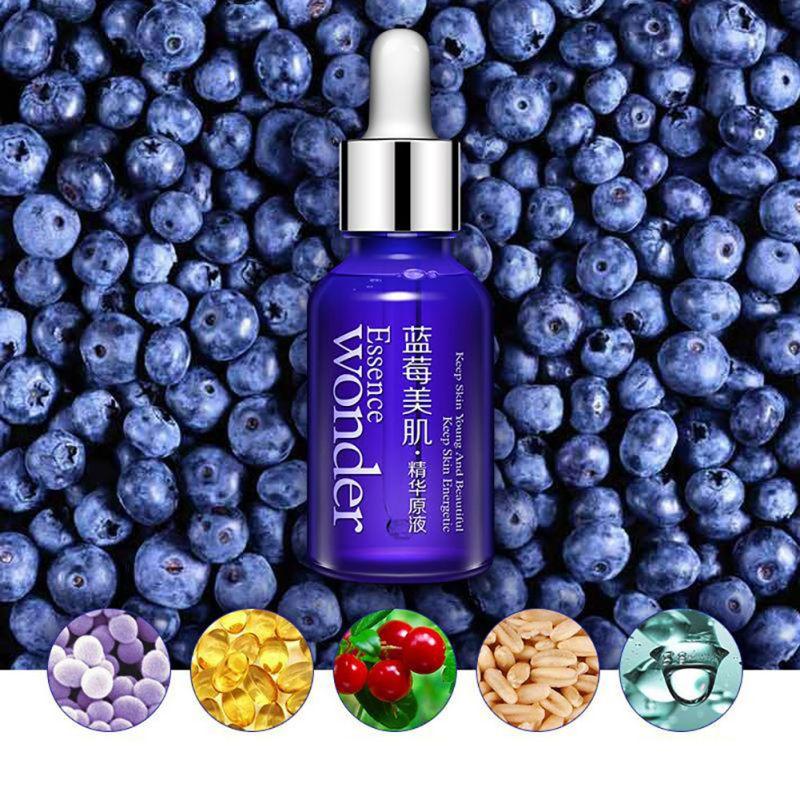 BIOAQUA Blueberry Beauty Essence Lotion Moisturizing Oil Control Shrinking Pore Brighten Skin Tone Repair Collagen Serum Liquid
