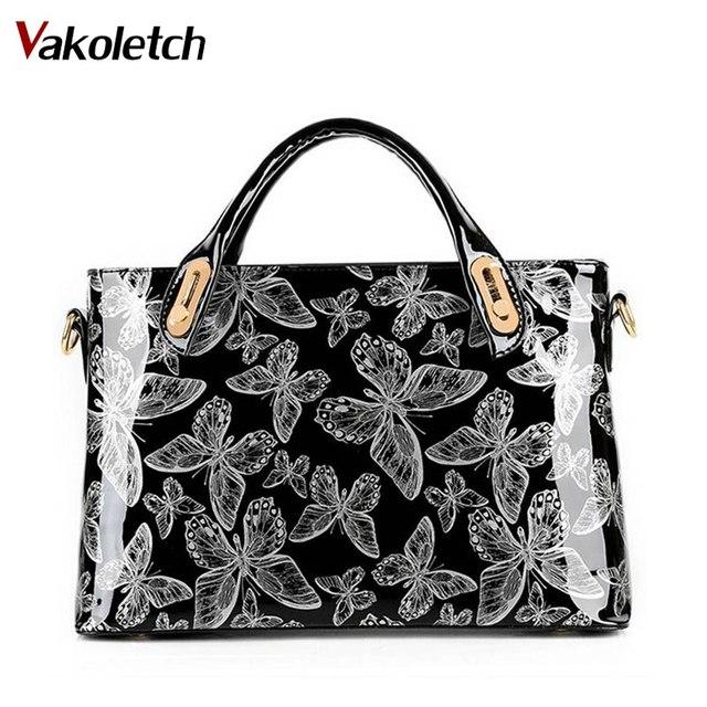 aab8a61b85e8a Factory Outlet Schmetterling Lackleder Schulter Vintage Handtasche Fest  Messenger Frauen Tasche Designer-handtaschen WB336