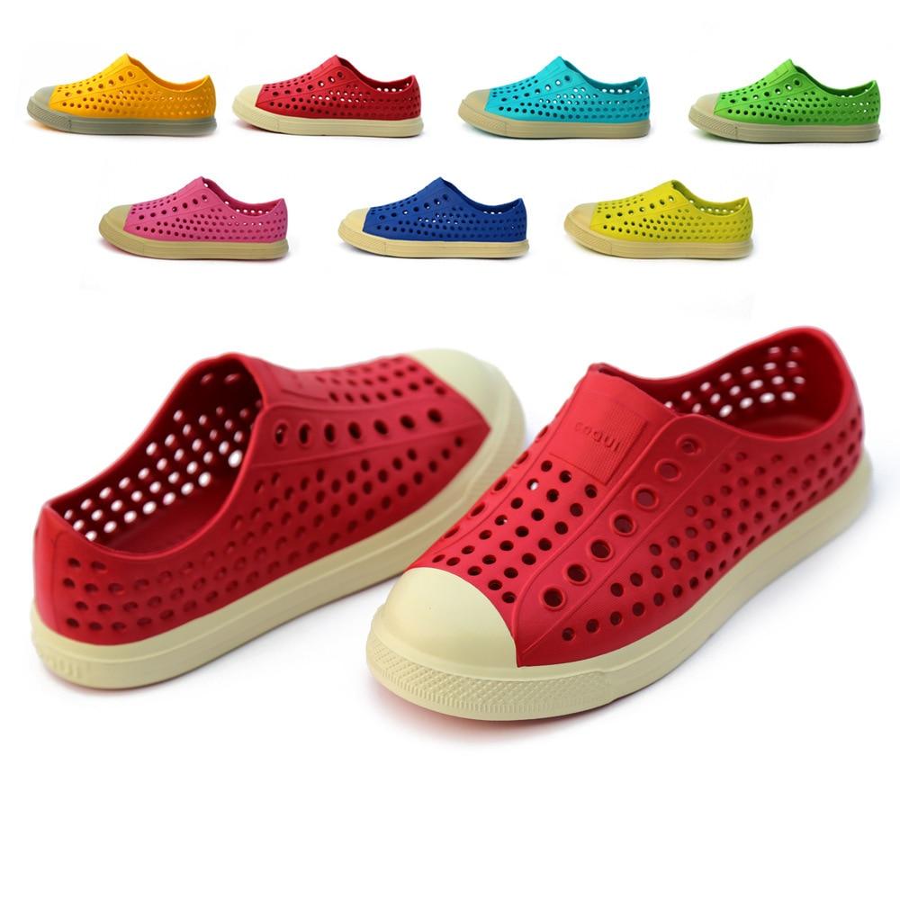 Coqui Original Jefferson Children Mules Clogs Kids Summer Garden Shoes Beach Shoes Boy Girl Candy Color Hole Shoes Free Shipping