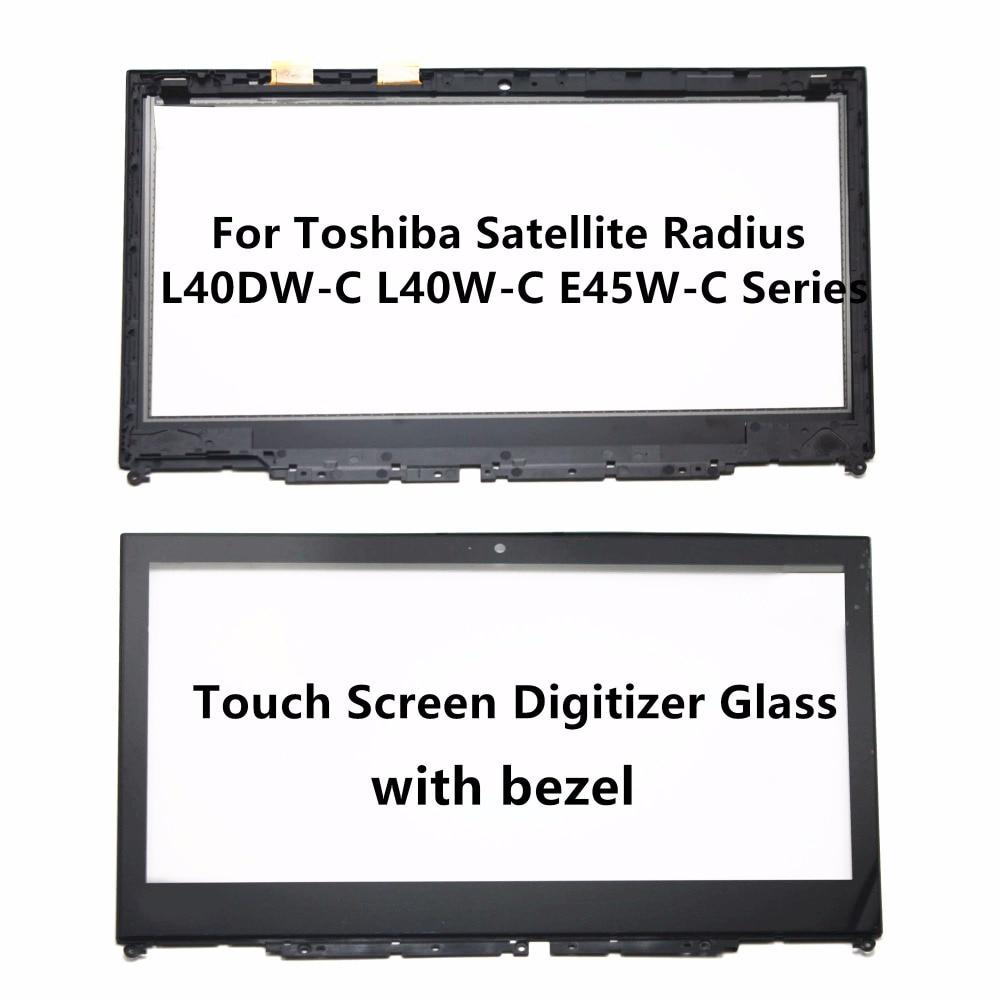 Verre de Numériseur D'écran tactile avec Lunette pour Toshiba Satellite Radius 14 L40DW-C L40W-C E45W-C E45W-C4200 E45W-C4200D E45W-C4200X