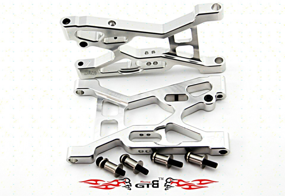 Losi 5ive-t steel front lower suspension + stainless axle 1 set losi parts losi front absorber shock set 2pcs set for losi 5ive t free shippings