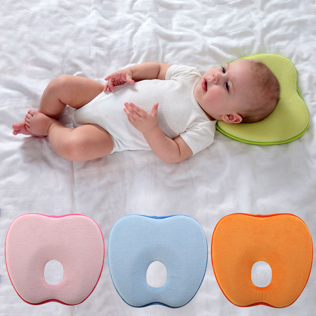 Newborn Toddler Safe Anti Roll Baby Infant Pillow Sleep Head Positioner Preventing Flat Head