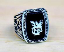 Alaric Ric The Vampire Diaries Revival Black Ring,the Top Quality Steampunk Antique Silver Movie Jewelry