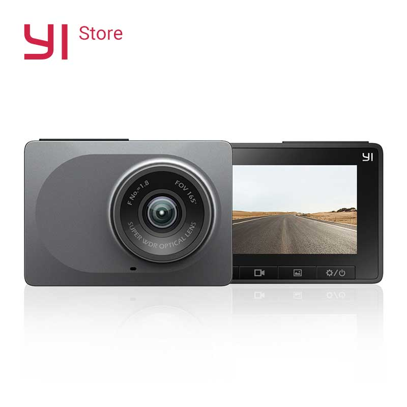 "YI Pintar Dash Kamera Perekam Video WiFi Full HD DVR Mobil Cam Night Vision 1080 P 2.7 ""165 Derajat 60fps ADAS Pengingat Aman"
