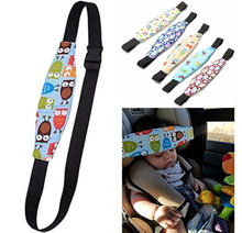 1Pcs Safety Baby Kids Stroller Car Seat Sleep Nap Aid Head Fasten Support Holder Belt Adjustable Safe New Headrest Sleeping(China)