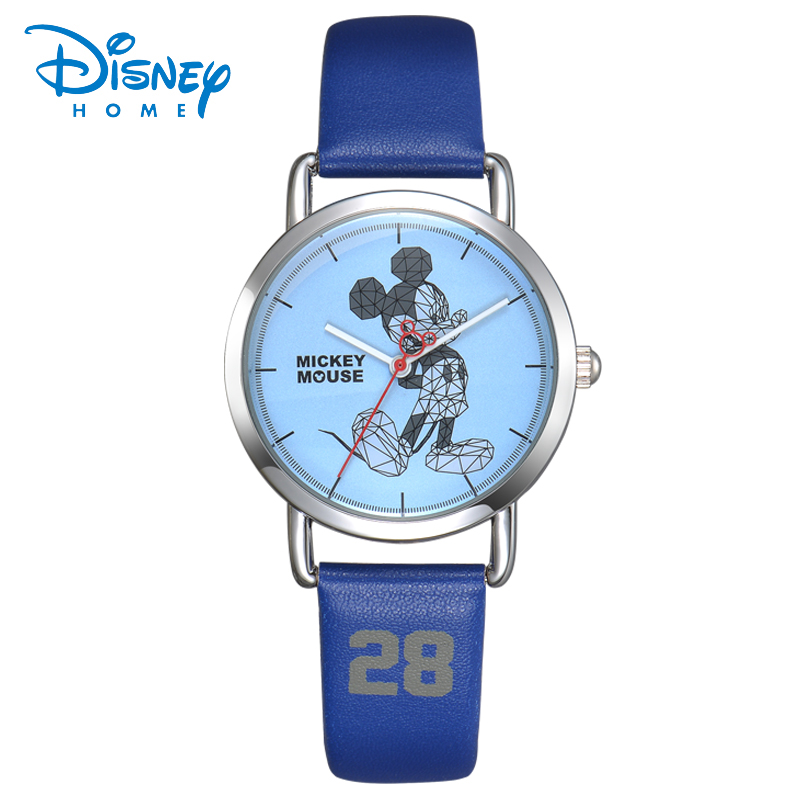 100% Genuine Disney Top Watches Women Fashion Watch 2017 Luxury Famous Brands Mickey Mouse Casual Leather Quartz WristWatches
