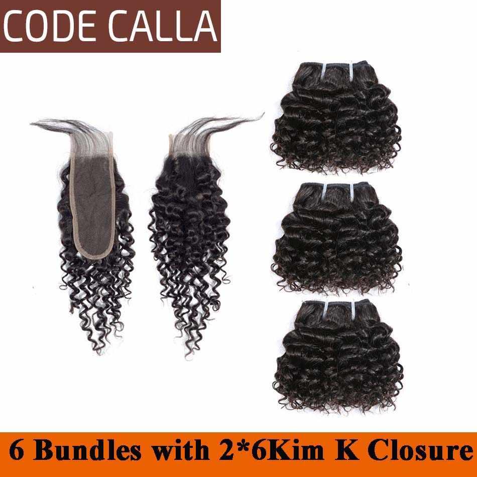 Код каллы предварительно окрашенные необработанные девственные человеческие волосы переплетения пучки дважды нарисованные кудрявые вьющиеся 6 шт. могут сделать парик черный темно-коричневый цвет