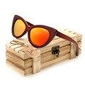 BOBO de AVES 2016 Madera gafas de Sol Para Hombre Deporte gafas de sol gafas de sol Cuadradas Mujeres Hombres Top Diseñador de la marca Gafas de espejo colorido