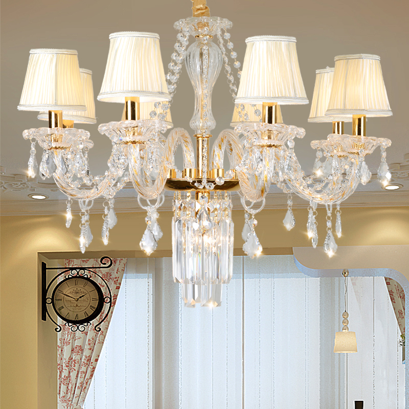 Modern Gold Chandelier Lighting Fixture For Living room Bedroom Kitchen Dining room lustres para quarto Large Crystal ChandelierModern Gold Chandelier Lighting Fixture For Living room Bedroom Kitchen Dining room lustres para quarto Large Crystal Chandelier