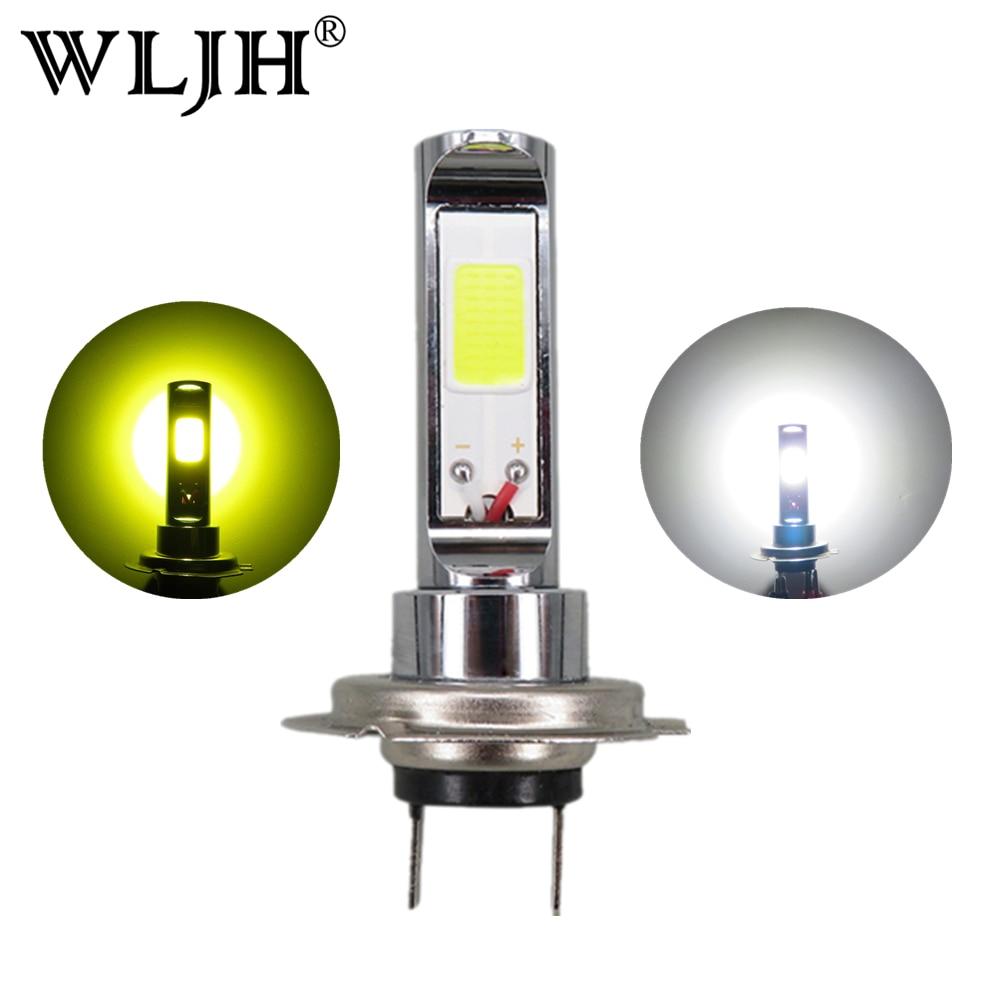 Wljh 2x водить автомобиль H7 лампа загорается 18 Вт COB Туман дальнего света лампы авто DRL H7 дневного света для Acura для ford для Honda Для Kia