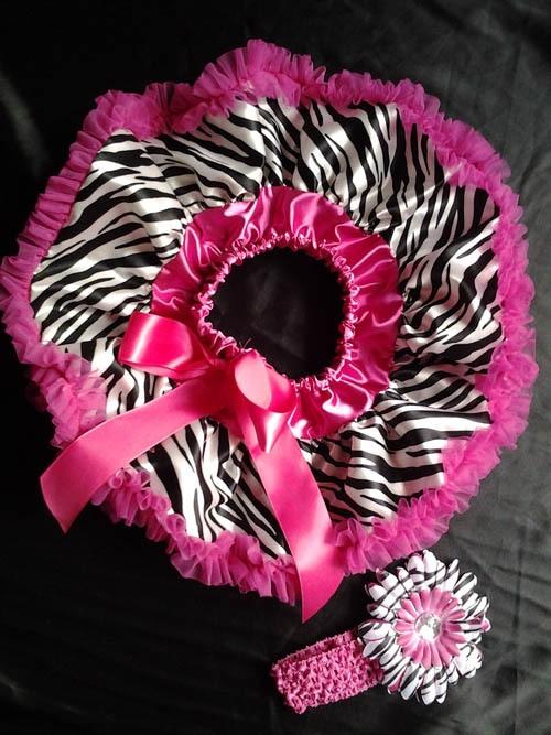 Юбка-пачка для малышей пышная детская юбка-американка с принтом зебры головная повязка для новорожденных с ромашками в цветочек комплект для малышей подарок на день рождения - Цвет: hot pink zebra