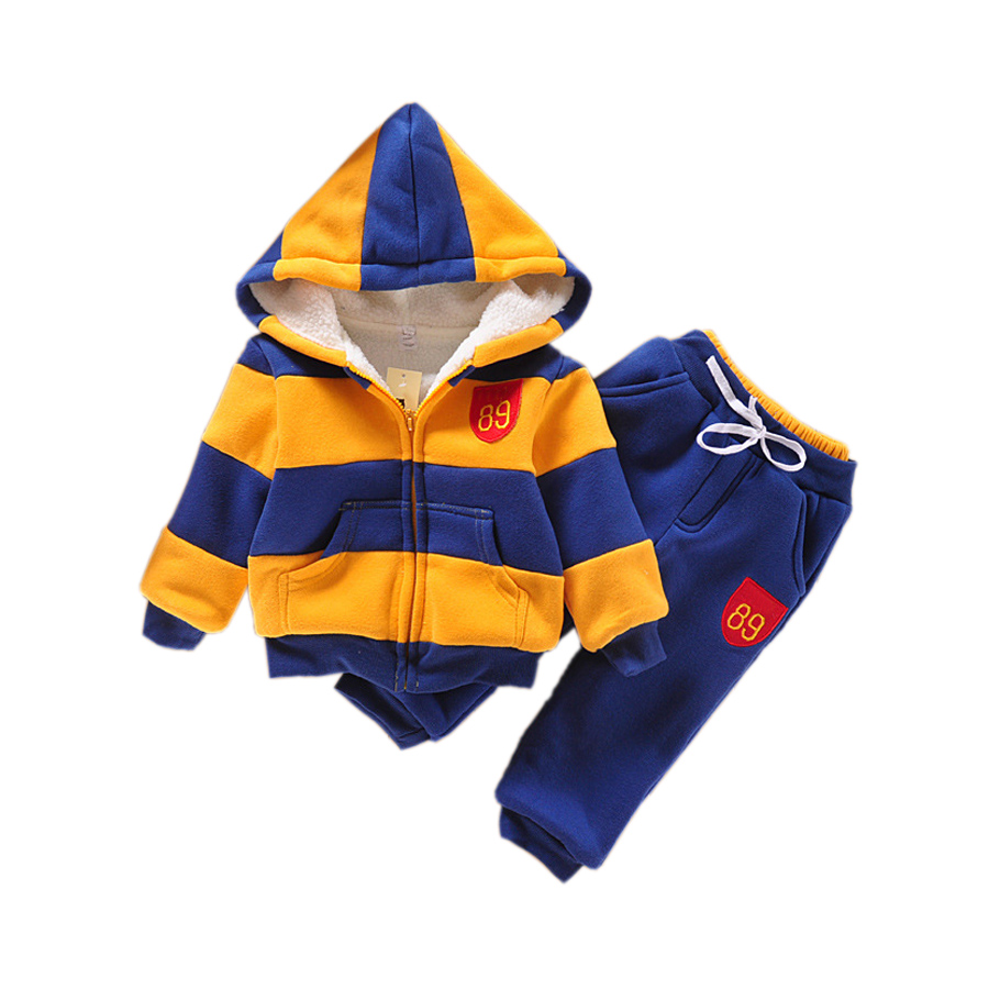 cute kids hoodie sweatshirt pants set cashmere hooded Winter set for 2-8yrs children boys girls outerwear sport clothes set hot