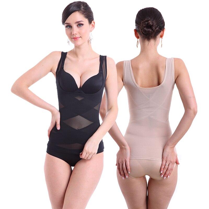 ZTOV Postpartum Women Waist Trainer Body Shaper Vest Body Shaping Corset Top Slimming Shapewear Lingerie Underwear Bodysuit 4XL