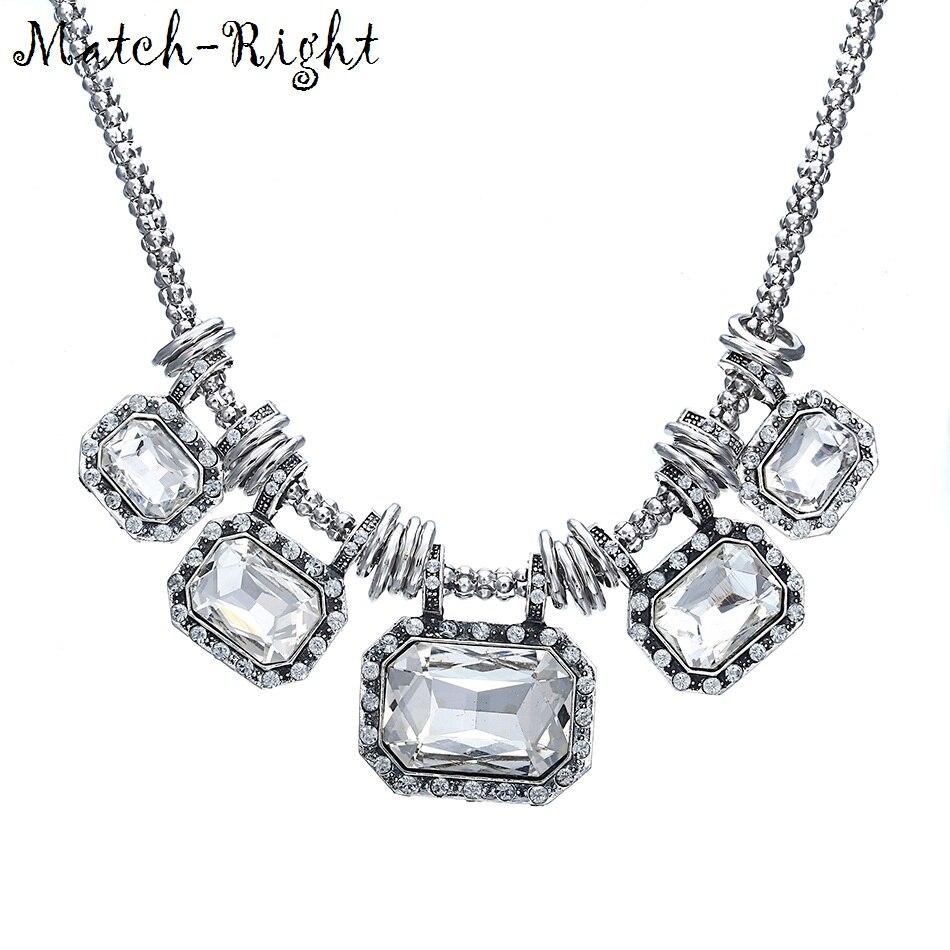 736ef59885d4 Match-Right Vintage cristal declaración collar mujeres gargantilla collares  y colgantes verano estilo joyas para regalo