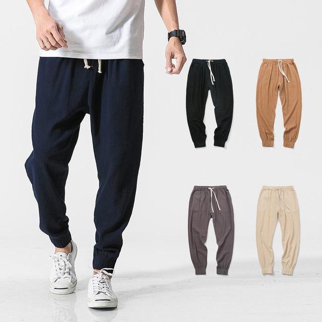 check out a47dd de442 US $25.5 |HEIßER verkauf herbst Leinen Super Lüften Männer Freizeitkleidung  Hosen Komfort/2018 männer Japanischen stil bewegung hosen/Asiatische M 5XL  ...