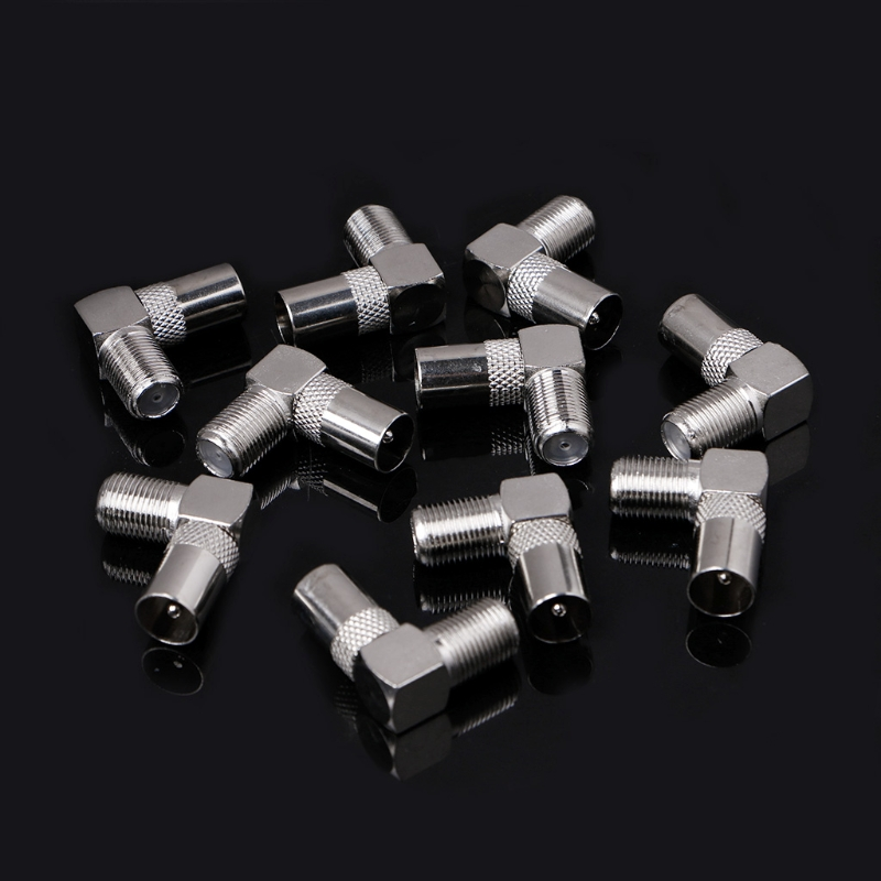10 Pcs Right Angled Angle 90 Degree F Connector Female To RF Coax Male Plug Aerial