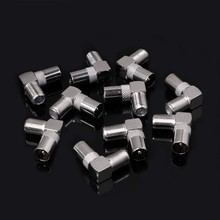 10 Pcs Right Angled Angle 90 degree F Connector Female to RF Coax Male Plug Aerial(China)