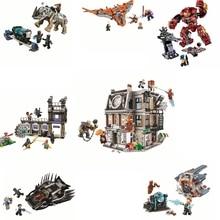цена на 76104 Bela compatible Legoingly Ironman Hulkbuster Infinite War Marvel Avengers Superhero Building Block Brick Toy 2019