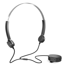Bone Conduction Headsets Hearing Aids Headphones Audiphone Sound Pick up AUX IN Black for Hearing Difficulties