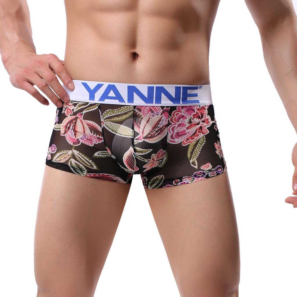 Large,Black Mens Ovarian Cancer Awareness Flag Cotton Breathable Boxer Briefs Underwear
