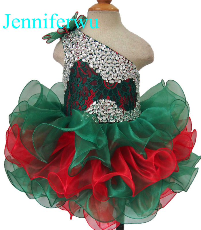цена stone beaded  infant and toddler girl pageant dress 1T-6T G095-9 онлайн в 2017 году