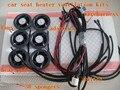 Простой конфигурации автокресло тепла и вентиляции наборы с из углеродного волокна тепловые колодки и 6 специальное вентиляторы для вентиляции