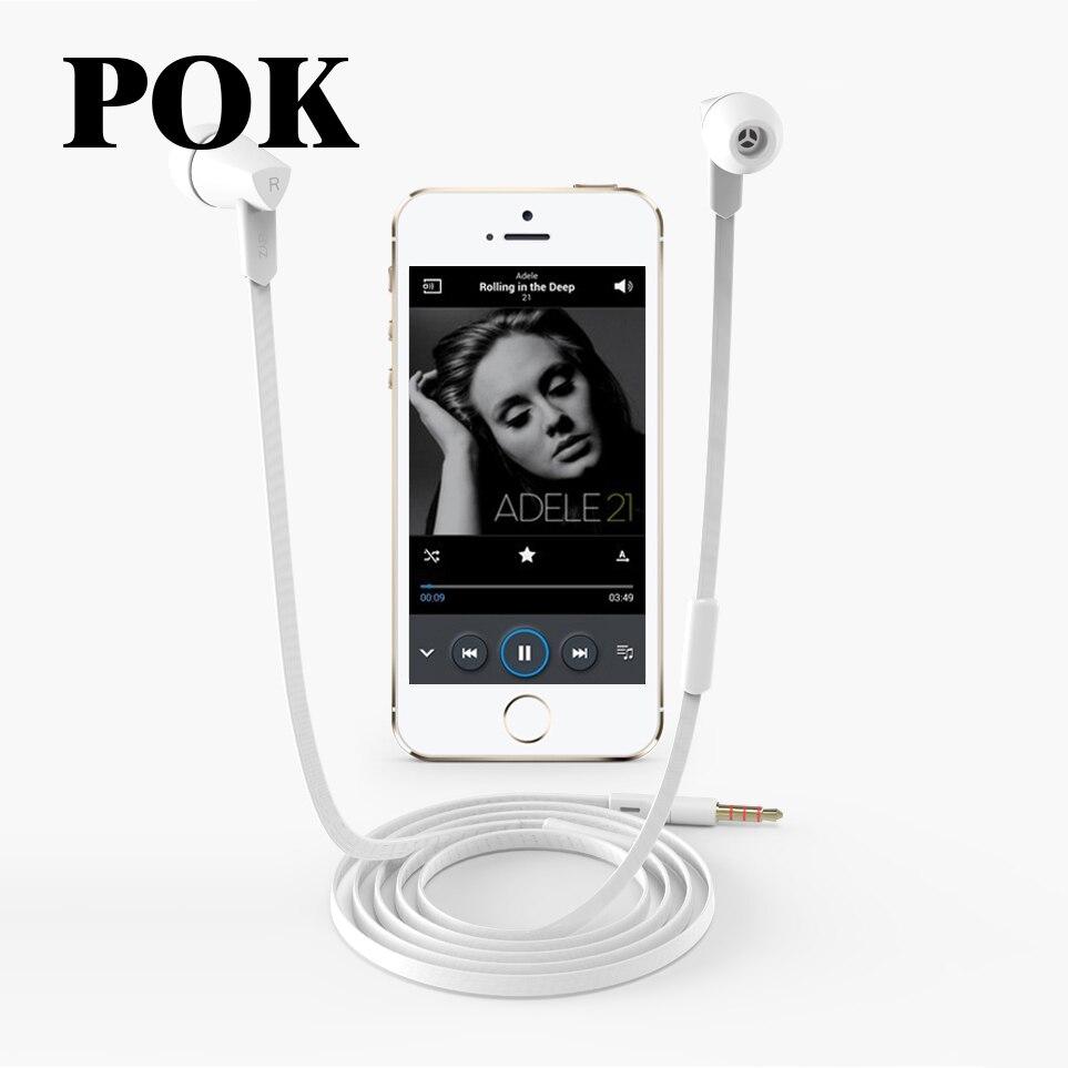Byz k1 estéreo en la oreja los auriculares con micrófono con cancelación de ruid