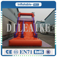 Free shipping 0.55mm PVC 7*3.5*5m inflatable slide jumping bouncing water trampoline outside water pool games