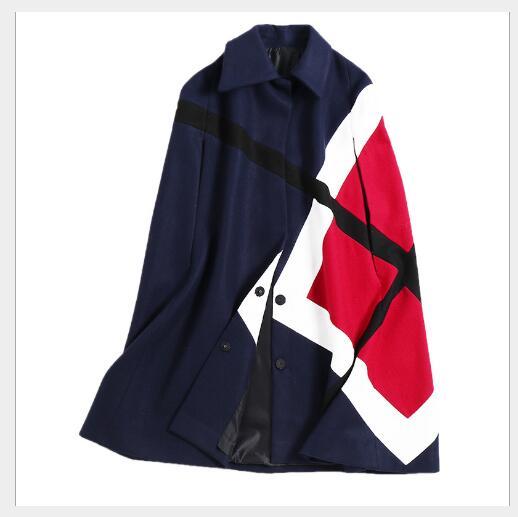 D'hiver Black Manteaux Turn Chandails Couleur Nouveau Col Casual Mode Femme Contraste Lâche De 2018 Down Femmes Manteau Tricoté tTqxUw47n