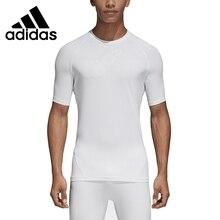 Новое поступление, Адидас ASK TEC TEE SS, мужские футболки с коротким рукавом, спортивная одежда