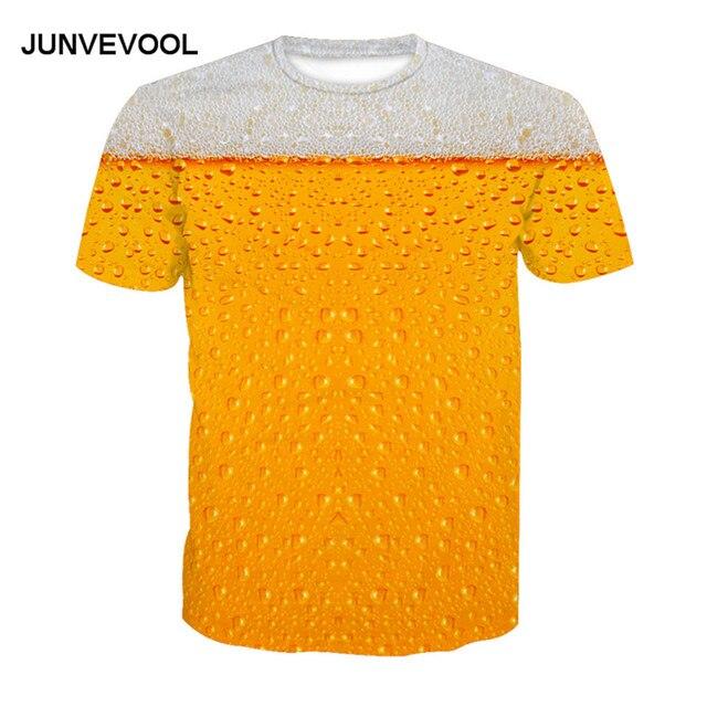 3D-Beer-T-Shirt-Men-s-Patchwork-Summer-T