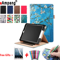 Leather Case for iPad Pro 10.5 inch A1701,eAmpang Painted Handheld Magnet Smart Cover for iPad Pro 10.5 Case with Stand Function