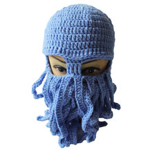 00f0f892bf744 2018 Tentacle Octopus Knitted Beanie Hat Wind-proof Mask Novelty Women men  Winter Hat Mask Squid Cap Cthulhu Tentacles Gift