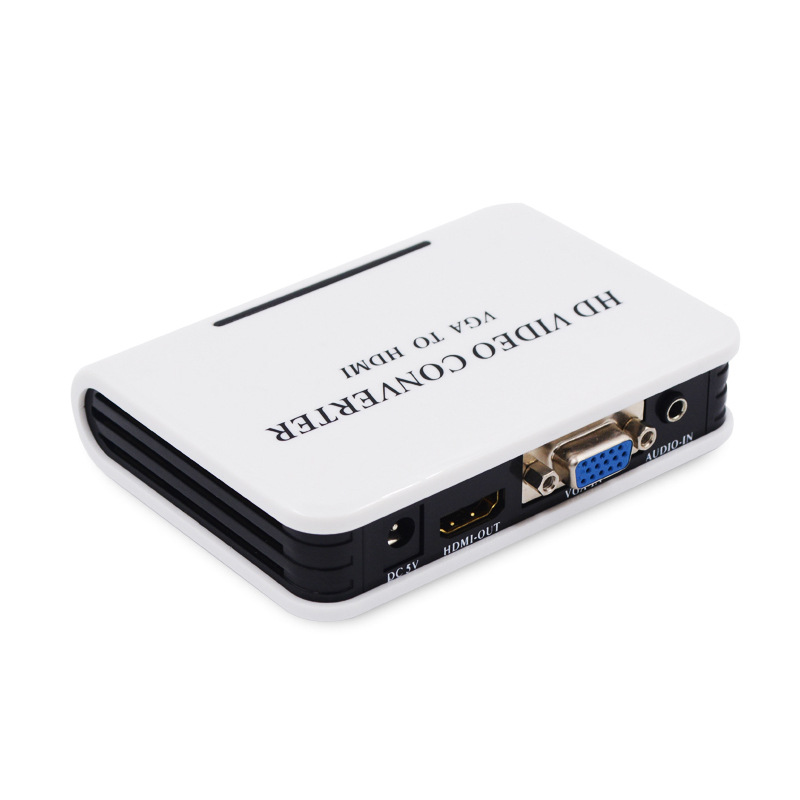Kvm-switches Hd Audio Tv Av Hdtv Pc Video Kabel Vga2hdmi Konverter Adapter Qualität Portable Plug & Vga Zu Hdmi Ausgang 1080 P üPpiges Design