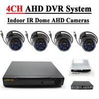 AHWVSE 4CH CCTV System 1080N AHD CCTV DVR 1500TVL 720P IR Night Vision Indoor Security Camera Vedio Surveillance DVR Kit
