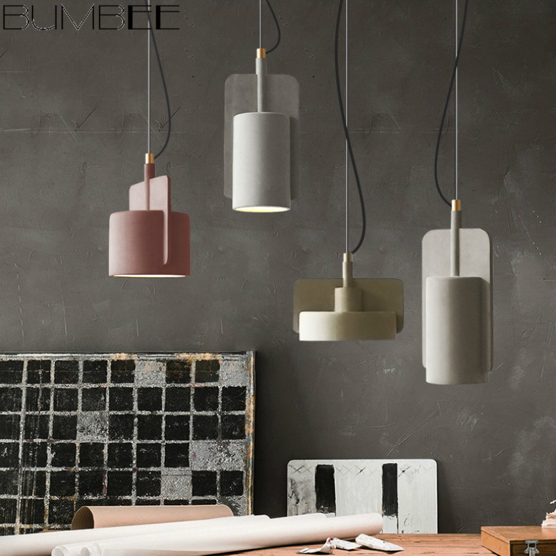 Nordic Macaroon Lustre Pendant Lights Industrial Style Dining Hanglamp Retro Simple Creative Cafe Bar Dining Room Home Decor