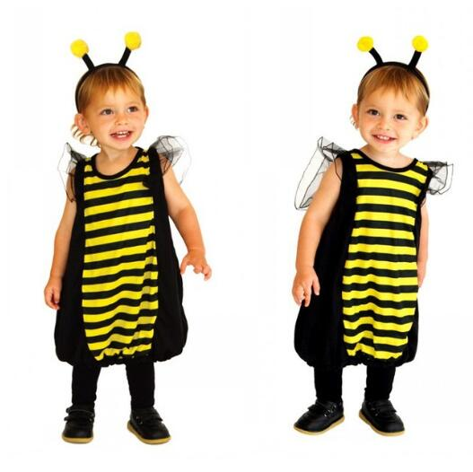Halloween Evening For Animal Animals Bumble Bee mistakes fancy dress for girls Purim and carnival costumes