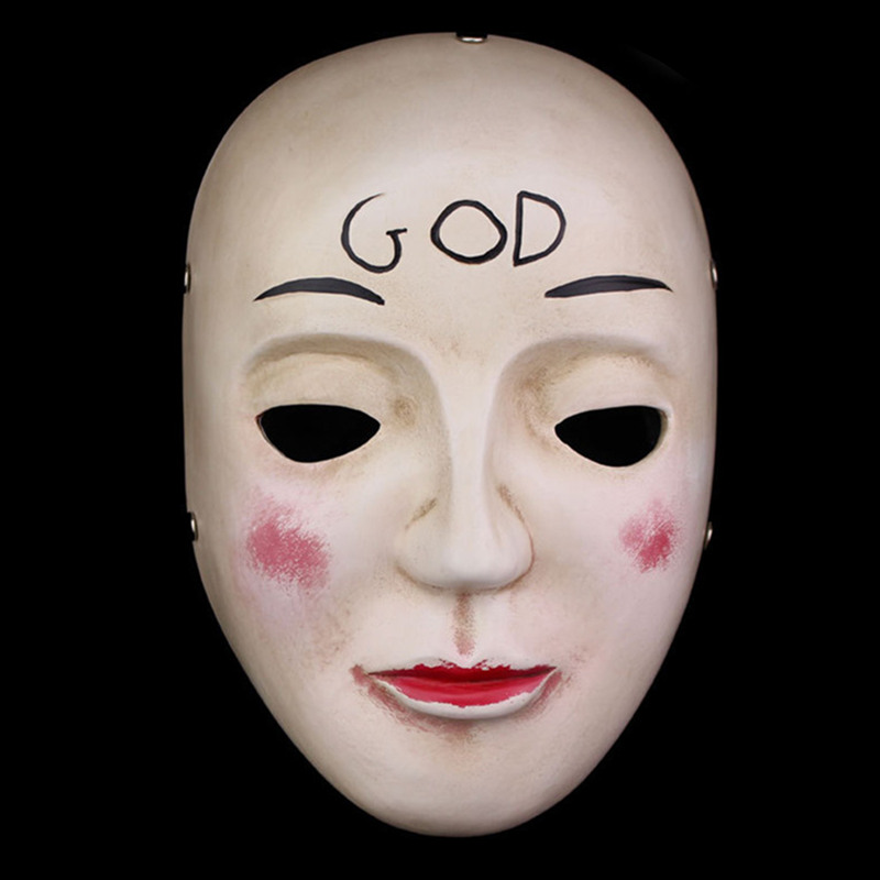 Hot The Purge Mask God Cosplay 2017 Home Decor Collection Horror Movie Masks Full Face Resin Creepy New Scary Halloween Mask image