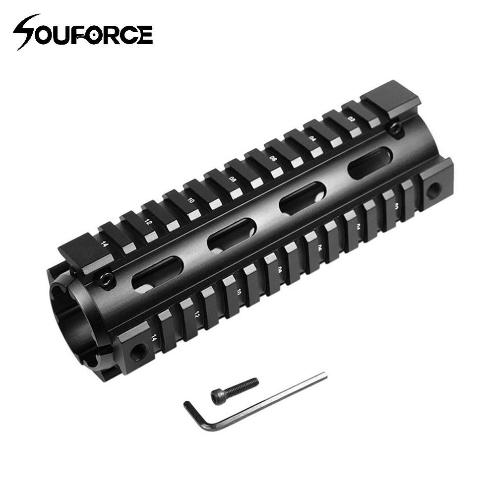 Tatical 6.7 Inches Handguard with 4 Rail Fit 20mm Rail Mount for AR15 M16 Rifle Hunting Gun Accessory