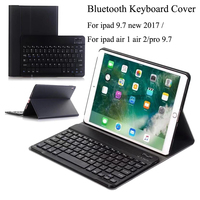 For New Ipad 9 7 2017 A1822 A1823 Wireless Bluetooth Keyboard Ultra Thin PU Leather ABS